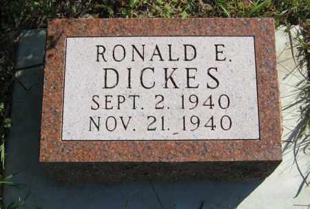 DICKES, RONALD E. - Cedar County, Nebraska | RONALD E. DICKES - Nebraska Gravestone Photos
