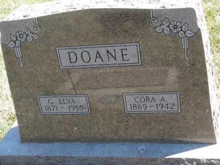 DOANE, CORA A. - Cedar County, Nebraska | CORA A. DOANE - Nebraska Gravestone Photos