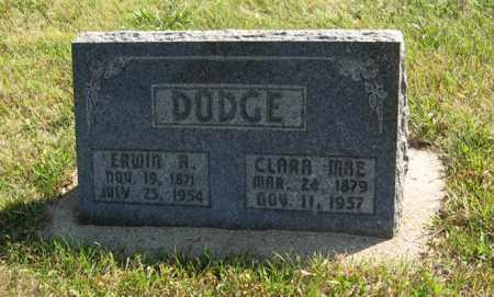 DODGE, CLARA MAE - Cedar County, Nebraska | CLARA MAE DODGE - Nebraska Gravestone Photos
