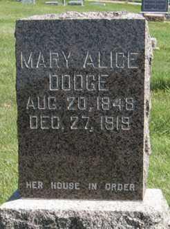 DODGE, MARY ALICE - Cedar County, Nebraska   MARY ALICE DODGE - Nebraska Gravestone Photos