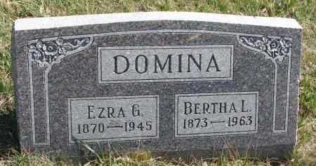 DOMINA, EZRA G. - Cedar County, Nebraska   EZRA G. DOMINA - Nebraska Gravestone Photos