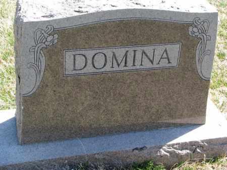 DOMINA, FAMILY STONE - Cedar County, Nebraska   FAMILY STONE DOMINA - Nebraska Gravestone Photos
