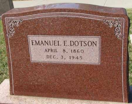 DOTSON, EMANUEL E. - Cedar County, Nebraska | EMANUEL E. DOTSON - Nebraska Gravestone Photos