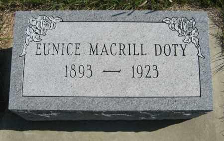 MACRILL DOTY, EUNICE - Cedar County, Nebraska | EUNICE MACRILL DOTY - Nebraska Gravestone Photos