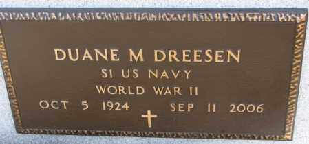 DREESEN, DUANE M. (WW II) - Cedar County, Nebraska   DUANE M. (WW II) DREESEN - Nebraska Gravestone Photos