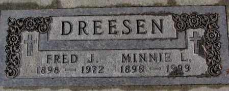 DREESEN, FRED J. - Cedar County, Nebraska | FRED J. DREESEN - Nebraska Gravestone Photos