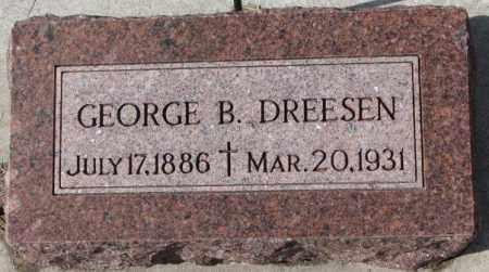 DREESEN, GEORGE B. - Cedar County, Nebraska | GEORGE B. DREESEN - Nebraska Gravestone Photos