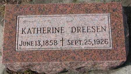 DREESEN, KATHERINE - Cedar County, Nebraska | KATHERINE DREESEN - Nebraska Gravestone Photos