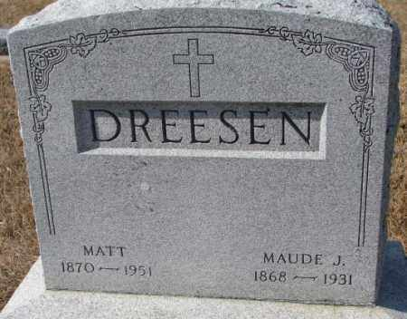 DREESEN, MATT - Cedar County, Nebraska   MATT DREESEN - Nebraska Gravestone Photos