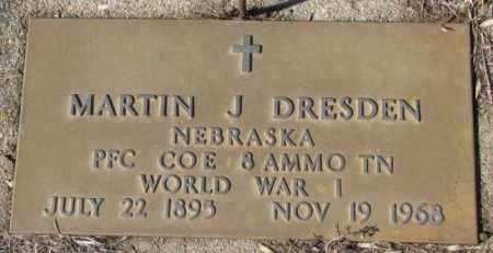 DRESDEN, MARTIN J. (WW I) - Cedar County, Nebraska | MARTIN J. (WW I) DRESDEN - Nebraska Gravestone Photos