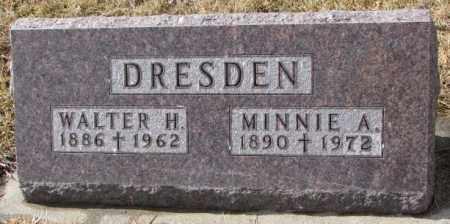 DRESDEN, WALTER H. - Cedar County, Nebraska | WALTER H. DRESDEN - Nebraska Gravestone Photos