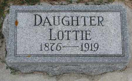 DRUHE, LOTTIE - Cedar County, Nebraska | LOTTIE DRUHE - Nebraska Gravestone Photos