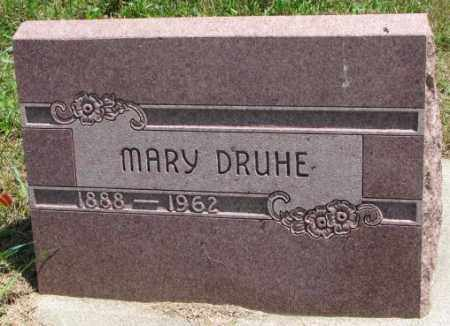 DRUHE, MARY - Cedar County, Nebraska | MARY DRUHE - Nebraska Gravestone Photos