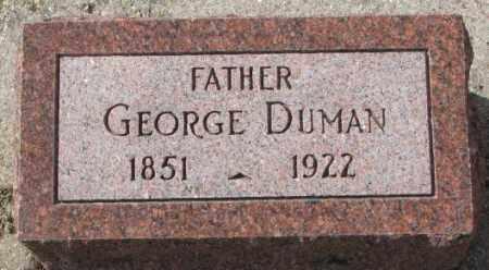 DUMAN, GEORGE - Cedar County, Nebraska   GEORGE DUMAN - Nebraska Gravestone Photos