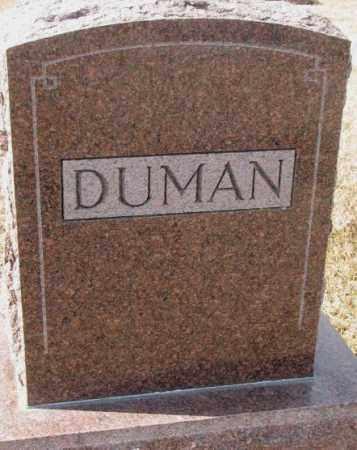 DUMAN, PLOT - Cedar County, Nebraska | PLOT DUMAN - Nebraska Gravestone Photos