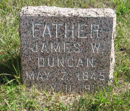 DUNCAN, JAMES W. - Cedar County, Nebraska | JAMES W. DUNCAN - Nebraska Gravestone Photos