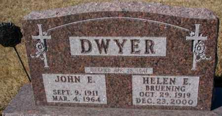 DWYER, JOHN E. - Cedar County, Nebraska | JOHN E. DWYER - Nebraska Gravestone Photos