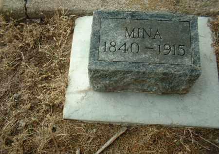 EBINGER, MINA - Cedar County, Nebraska | MINA EBINGER - Nebraska Gravestone Photos