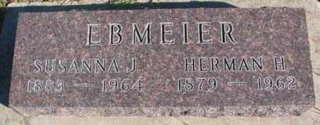 EBMEIER, SUSANNA J. - Cedar County, Nebraska | SUSANNA J. EBMEIER - Nebraska Gravestone Photos