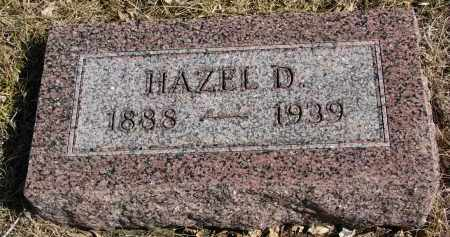 EBY, HAZEL D. - Cedar County, Nebraska   HAZEL D. EBY - Nebraska Gravestone Photos