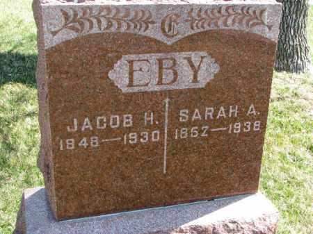 EBY, SARAH A. - Cedar County, Nebraska | SARAH A. EBY - Nebraska Gravestone Photos