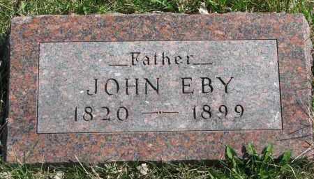 EBY, JOHN - Cedar County, Nebraska | JOHN EBY - Nebraska Gravestone Photos