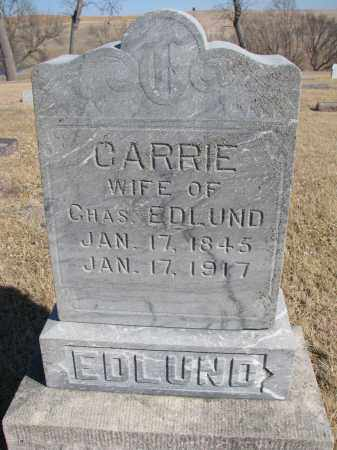 EDLUND, CARRIE - Cedar County, Nebraska | CARRIE EDLUND - Nebraska Gravestone Photos