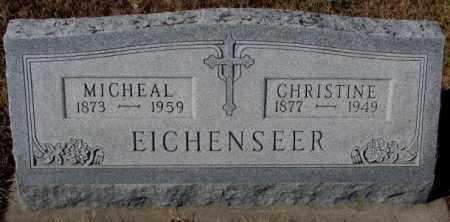EICHENSEER, MICHEAL - Cedar County, Nebraska | MICHEAL EICHENSEER - Nebraska Gravestone Photos