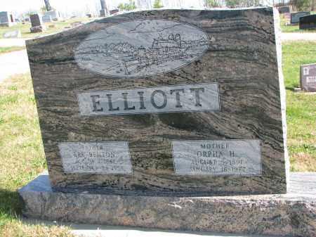 ELLIOTT, ORPHA H. - Cedar County, Nebraska | ORPHA H. ELLIOTT - Nebraska Gravestone Photos