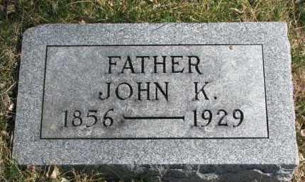 ELLIOTT, JOHN K. - Cedar County, Nebraska | JOHN K. ELLIOTT - Nebraska Gravestone Photos