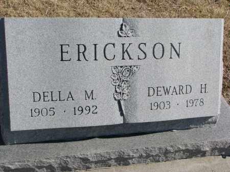 ERICKSON, DELLA M. - Cedar County, Nebraska | DELLA M. ERICKSON - Nebraska Gravestone Photos