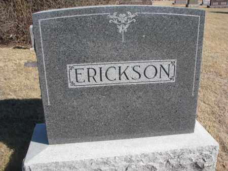 ERICKSON, FAMILY STONE - Cedar County, Nebraska | FAMILY STONE ERICKSON - Nebraska Gravestone Photos