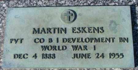 ESKENS, MARTIN (WW I) - Cedar County, Nebraska   MARTIN (WW I) ESKENS - Nebraska Gravestone Photos