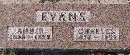 EVANS, CHARLES - Cedar County, Nebraska | CHARLES EVANS - Nebraska Gravestone Photos