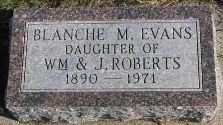 EVANS, BLANCHE M. - Cedar County, Nebraska | BLANCHE M. EVANS - Nebraska Gravestone Photos