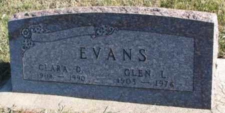 EVANS, CLARA D. - Cedar County, Nebraska   CLARA D. EVANS - Nebraska Gravestone Photos