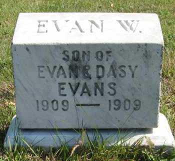 EVANS, EVAN W. - Cedar County, Nebraska   EVAN W. EVANS - Nebraska Gravestone Photos