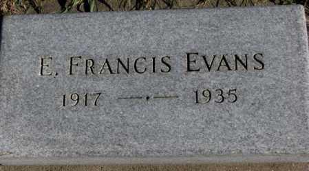 EVANS, E. FRANCIS - Cedar County, Nebraska   E. FRANCIS EVANS - Nebraska Gravestone Photos