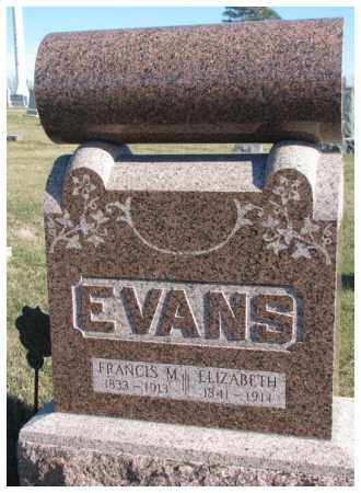 EVANS, FRANCIS M. - Cedar County, Nebraska | FRANCIS M. EVANS - Nebraska Gravestone Photos