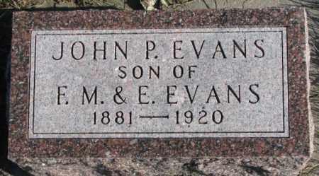 EVANS, JOHN P. - Cedar County, Nebraska | JOHN P. EVANS - Nebraska Gravestone Photos