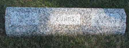 EVANS, ELMER - Cedar County, Nebraska   ELMER EVANS - Nebraska Gravestone Photos