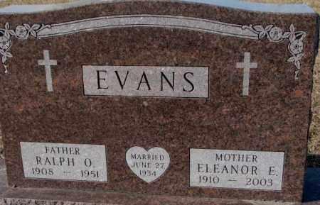 EVANS, ELEANOR E. - Cedar County, Nebraska | ELEANOR E. EVANS - Nebraska Gravestone Photos