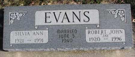 EVANS, SILVIA ANN - Cedar County, Nebraska | SILVIA ANN EVANS - Nebraska Gravestone Photos