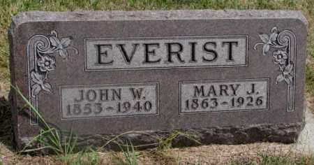 EVERIST, MARY J. - Cedar County, Nebraska | MARY J. EVERIST - Nebraska Gravestone Photos