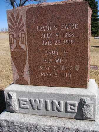 EWING, ANNIE S. - Cedar County, Nebraska | ANNIE S. EWING - Nebraska Gravestone Photos
