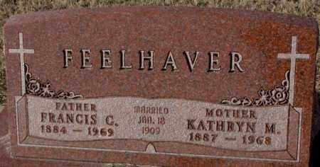 FEELHAVER, FRANCIS G. - Cedar County, Nebraska | FRANCIS G. FEELHAVER - Nebraska Gravestone Photos