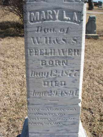 FEELHAVER, MARY L.A. (CLOSEUP) - Cedar County, Nebraska | MARY L.A. (CLOSEUP) FEELHAVER - Nebraska Gravestone Photos