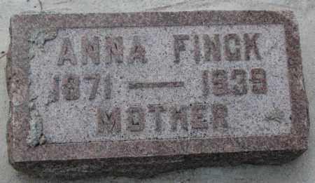 FINCK, ANNA - Cedar County, Nebraska | ANNA FINCK - Nebraska Gravestone Photos