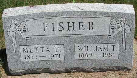 FISHER, METTA D. - Cedar County, Nebraska | METTA D. FISHER - Nebraska Gravestone Photos