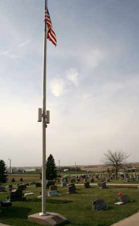 *FLAG POLE, MEMORIAL - Cedar County, Nebraska | MEMORIAL *FLAG POLE - Nebraska Gravestone Photos